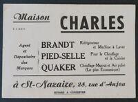 BUVARD MAISON CHARLES Saint-Nazaire BRANDT QUAKER réfrigérateur Blotter