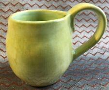"Aletha Soule Studios - Green Ceramic Mug. Nice size cup! 4.25"" tall with 1 flaw"