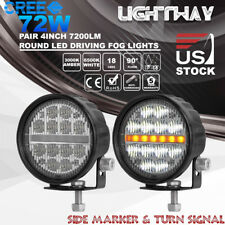 2x 4Inch 72W CREE LED Work Light Flood Beam Fog Driving Turn Lamp Offroad Truck