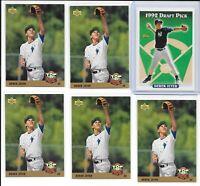 (6) 1993 Topps and Upper Deck Derek Jeter RC LOT New York Yankees HOF Base