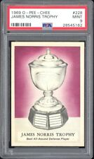 1969 O-Pee-Chee #226 Norris Trophy Phil Esposito Yellow Name on Back PSA 9 RARE!