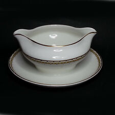 Gravy Boat by Cleveland China G. H. B. Co. Warranted 18 Carat Gold