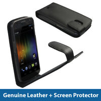Black Leather Case for Samsung Galaxy Nexus i9250 Android Cover Holder Bumper