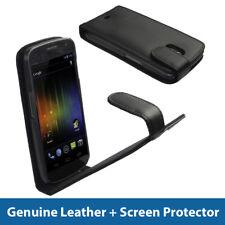 Estuche De Cuero Negro Para Samsung Galaxy Nexus I9250 Android cubrir titular parachoques