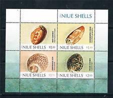 Niue 2012 Shells 4v MS MNH