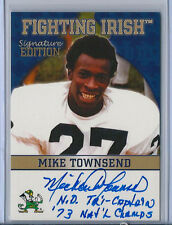 Mike Townsend 2003 TK Legacy Notre Dame Fighting Irish Inscribed Auto Card FI2