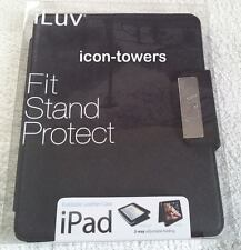 "Leather 10"" FOLDING TABLET EBOOK CASE / FOLIO by iLuv 
