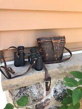 Wwii German Army Military Dienstglas Binoculars 6X30 103076 & Leather Case