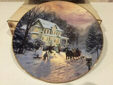 Home For The Holidays Sleighride Home Thomas Kinkade Collector Plate Knowles Coa