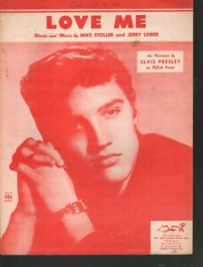 Love Me 1958 Elvis Presley Sheet Music