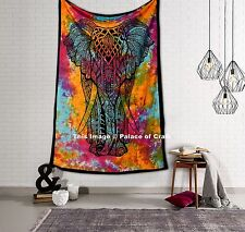 Elephant Indian Cotton Twin Tapestries Wall Hanging Bedspread Tapestry Throw Art
