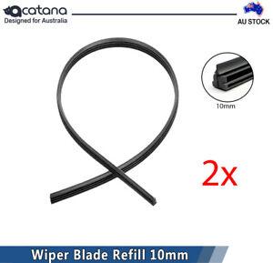 2x Wiper Blade Refill for Mitsubishi Triton 2015 2016 2017 2018 2019 2020 10mm