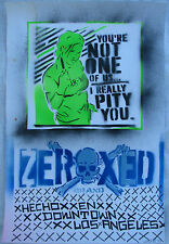 Jessee Vidaurre (Los Angeles 1972) graffiti Street Art Zeroxed Mixed Media 2003
