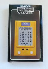 Vintage Handheld Computer Electronic Card Game INVADER MIB 1980's