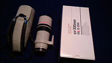 Canon EF 300mm f/4 L IS USM Lens * Original box and packing.