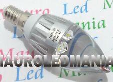 Lampada E14 LED 3 Power LED 30W Basso Consumo con 3 SMD BIANCO FREDDO 220V PAVIA