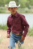 Cinch Boy's Red White & Blue Geometric Print Snap Up Western Shirt MTW7020068