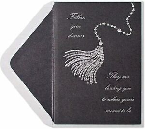 Dramatic Papyrus Graduation Card - Rhinestones & Gem Tassel- Follow your Dreams