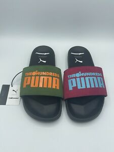 Puma Leadcat FTR x The Hundreds Black White Men Sandal Slides New Rare 372940-01