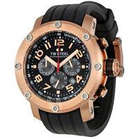 TW Steel Grandeur Tech 45mm Black Dial Chronograph Mens Watch TW130