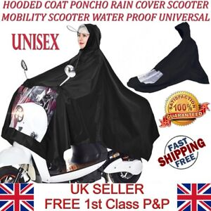 LTG PRO® Waterproof Mobility Scooter Bike Rain Suit Cover Mac Poncho Hooded Coat