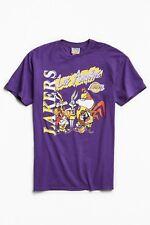 Los Angeles Lakers Looney Tunes Junk Food Purple Tee Shirt Size Medium New