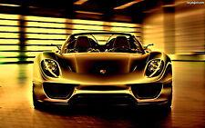 Incorniciato stampa-Porsche 918 Spyder SUPERCAR (foto poster arte AUDI FERRARI BMW)