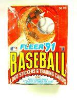 1991 Fleer Major League Baseball Logo Stickers & Trading Card Sealed Box Set