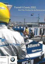 Formel 1 Events 2003 - Pole Position von BMW