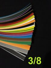 """3/8 """"  9.5mm ASSORTED  *12*  COLORS 2:1 heat shrink tubing polyolefin (6' FOOT)"""