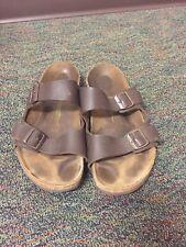 Mens Arizona Birkenstock Sandals Size 47 Brown Leather Size 14