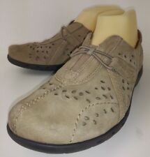Cobb Hill New Balance CAG20LN Wos Shoes Loafers US7.5W Brown Suede Walking 134