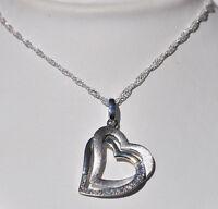 Echt 925 Sterling Silber Anhänger Herz mit Zirkonia Hochzeit  209G