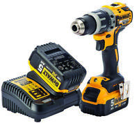 DEWALT 18V XR 2x 5Ah LiIon Cordless Brushless Combi Drill Power Tool Battery Kit