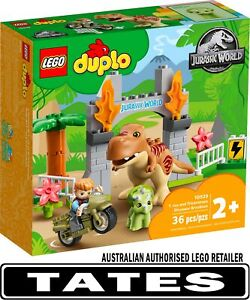 LEGO 10939 T. rex and Triceratops Dinosaur Breakout - Duplo from Tates Toyworld