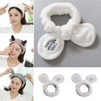 Rabbit Bunny Ear Makeup Headband Mask Soft Hair Band Women Spa  Face Wash Band