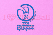 World Cup KOREA JAPAN 2002 Blue Polyflex Soccer Patch / Badge