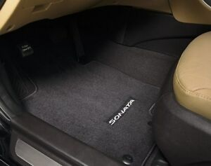 2015-2017 HYUNDAI SONATA 4PC SET BLACK CARPETED FLOOR MATS (C1F14-AC000)