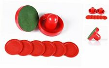 Air Hockey Red Replacement Pucks & Slider Pusher Goalies for Game Normal