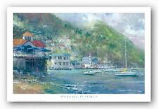 HARBOR ART PRINT Anchored in Avalon James Coleman