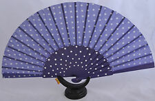 XL Spanish flamenco Purple  Pericón dance fan guajira eventails fächer ventagli