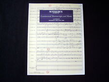 SOTHEBY'S CATALOGUE~CONTINENTAL MANUSCRIPTS AND MUSIC~1995~INCL. ORIG. PRICELIST