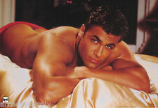 POSTER: CHIPPENDALES - MODEL LAYING ON BED - MALE MODEL - FREE SHIP #3187 RP60 R