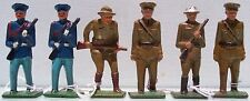 Grey Iron Cast Iron 6 Piece Early Soldier Lot Ex