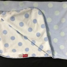 """AMY COE Blanket Security Plush Blue Polka Dot Limited Edition Baby 30"""" X 40"""""""