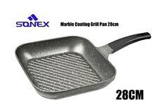 SONEX Diecast Glory King Set Cookware 10 Piece Grey Heavy Duty Non Stick Marble