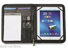 Gemline Partner iPad/Tablet Stand Simulated Leather Zippered E-Padfolio - New