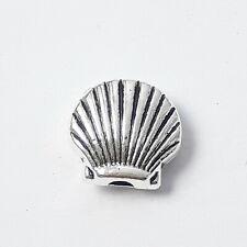 10pcs Scallop Shell Metal Beads Antique Silver 9x8mm - B0125774