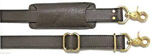 """1"""" x 32""""- 54"""" BROWN Adjustable Briefcase Luggage Shoulder Bag Leather Strap"""