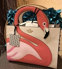 Stunning!***🌺🌹Kate Spade by the pool flamingo sam Satchel Bag Multicolored NWT